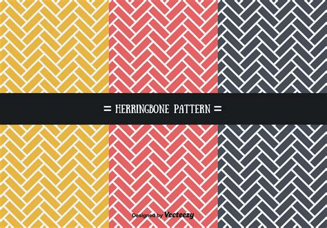 brick pattern swatch illustrator stylish herringbone patterns vector download free vector