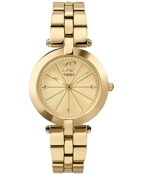 timex s starlight gold tone stainless steel bracelet