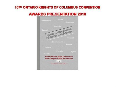 knights of columbus membership card template awards presentation 2010 web page version authorstream