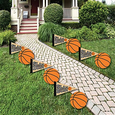 backyard cout party nothin but net basketball lawn decorations outdoor