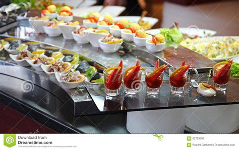 Banquet Table Layout Food Buffet In Luxury Restaurant Stock Image Image Of