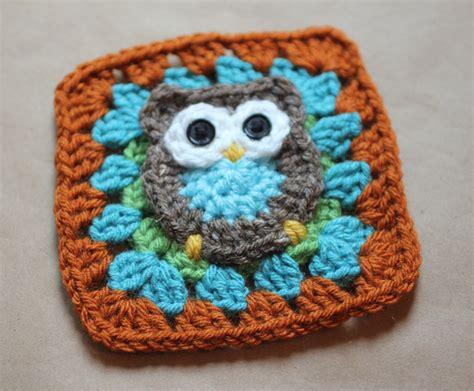free crochet pattern owl motif owl granny square crochet pattern repeat crafter me