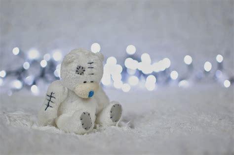 Boneka White Teddy ekspresi kesedihan teddy