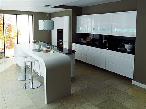 Curved Kitchen Island Designs by Remo Linear From Eaton Kitchen Designs Wolverhampton