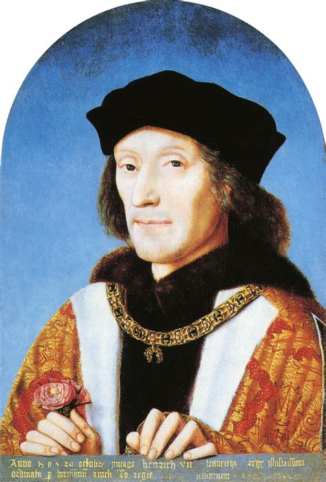 tudor king details for henry vii of england ad 1485 ad 1509 a