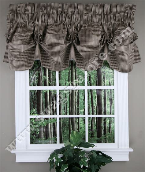 Black Valance Curtains Fleetwood Tucked Valance Black Stylemaster Kitchen Valances