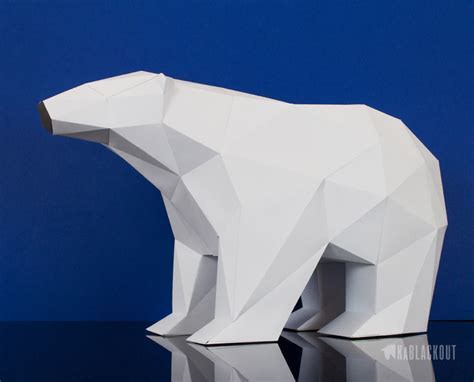 polar template low poly polar template low poly 3d papercraft