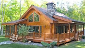 log cabin home with wrap around porch big log cabin homes one story log homes mexzhouse com
