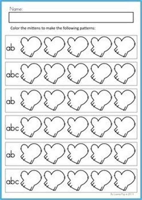 winter pattern worksheets for kindergarten 92 best patterns preschool images on pinterest