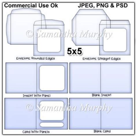 5x5 card template 5x5 envelope card insert templates commercial use 163 3