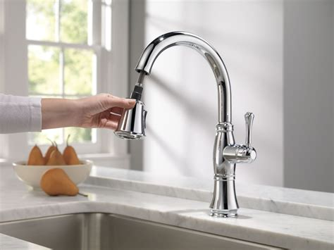 pull down kitchen faucet with magnetic sprayer dock best faucet com 9197 ar dst in arctic stainless by delta