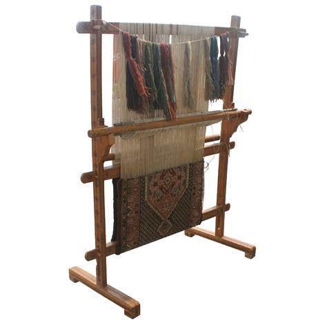 Antique Rug Loom antique vertical weaving loom with rug