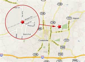 cookeville tn map