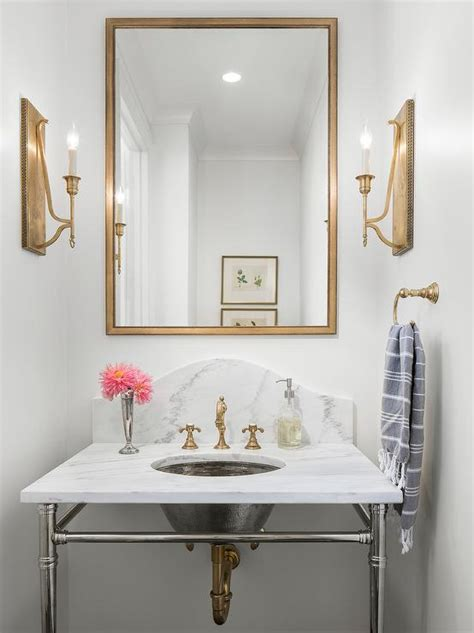 gold mirror bathroom rectangular gold mirror over marble sink vanity