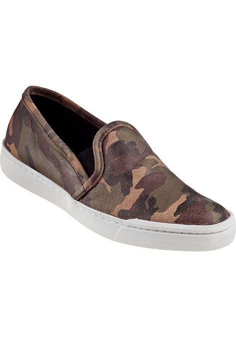 camo slip on sneakers steve madden tardy slip on sneaker camo leather in brown