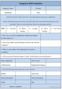 employee self evaluation template employee evaluation form templates free templates