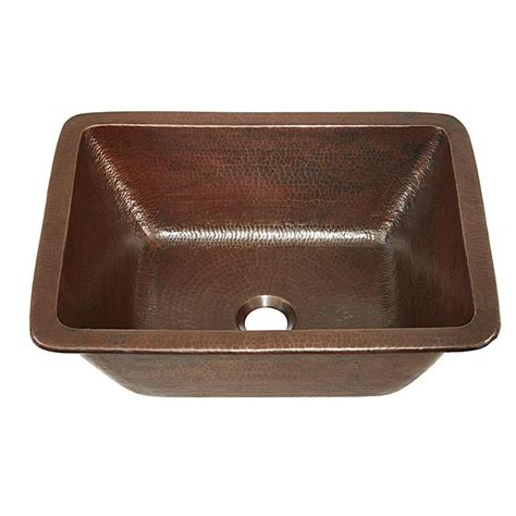 undermount copper bathroom sinks shop sinkology aged copper copper drop in or undermount rectangular bathroom sink at