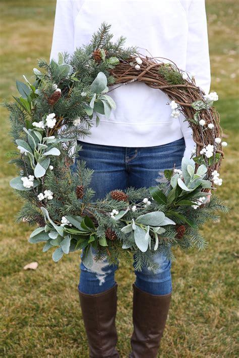 diy winter wreath ideas youll love  happy housie