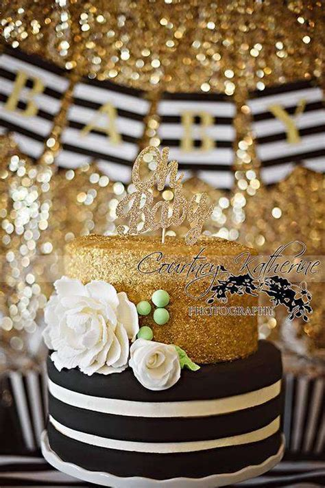 Black And Gold Baby Shower Decorations by Black White Gold Baby Shower Ideas Gold Baby