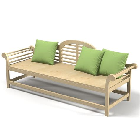 bespoke garden bench bespoke outdoor garden 3d model