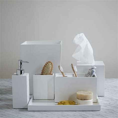 west elm bathroom accessories lacquer bath accessories white west elm