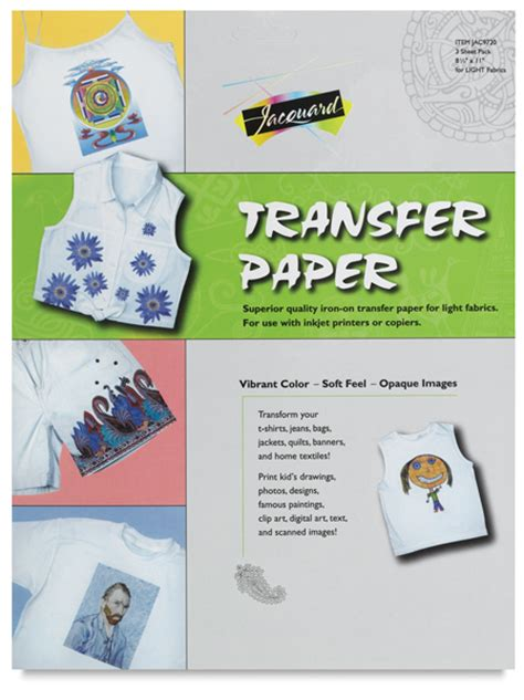 printable iron on transfer paper instructions jacquard iron on transfer paper blick art materials