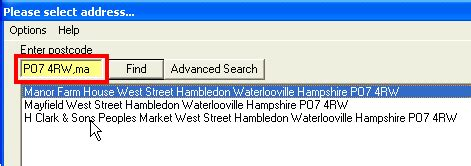 Website Address Lookup Postcode Address Search Address Search For Web Or Desktop