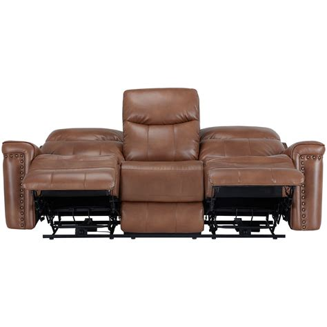 Brown Microfiber Reclining Sofa City Furniture Wallace Medium Brown Microfiber Power Reclining Sofa