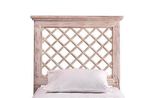 Distressed White Headboard by Hillsdale Kuri Headboard Distressed White 1843w Hb