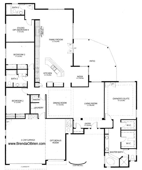 4 bedroom house plans one story view floorplans ranch 4 bedroom floor plans one story home planning ideas 2018