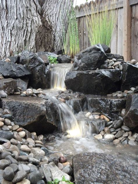 waterfall created by aquascape by blue creek