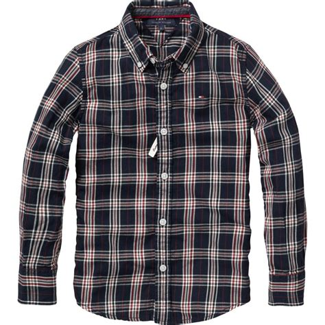Checked Shirt boys preppy navy checked shirt elfin