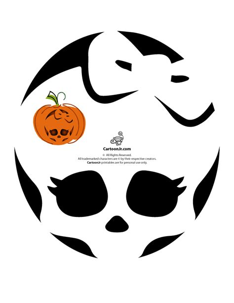Free Monster High Pumpkin Carving Patterns | Woo! Jr. Kids ... Pumpkin Pattern Free