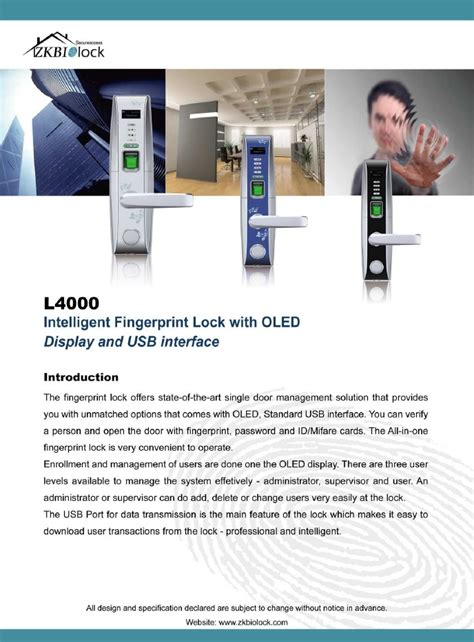 l4000 intelligent fingerprint lock smart door locks india