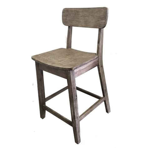 Gray Counter Stool by 24 Quot Counter Stool In Gray Wire Brush 76724