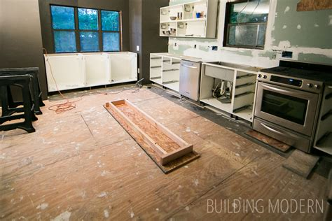 Do You Install Kitchen Cabinets Before Flooring Hardwood Floor Installation For The Kitchen Foyer