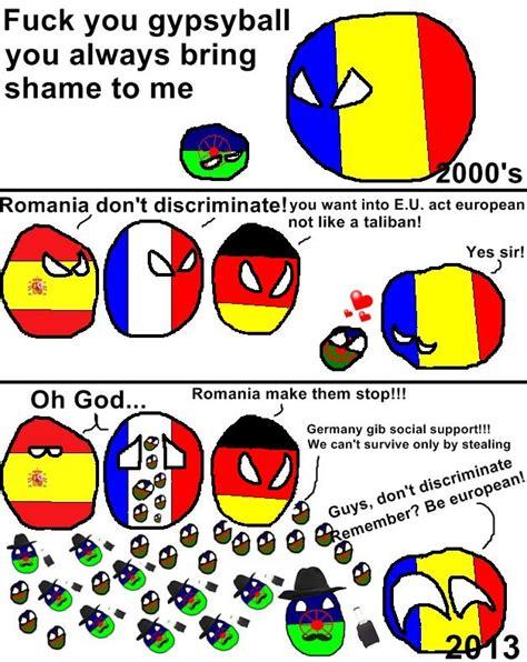 Meme Ro - polanball meme featuring romania e u countries gypsies