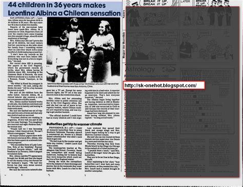 Celana Dalam Wanita 65 liontina albina wanita 65 tahun melahirkan 64 anak