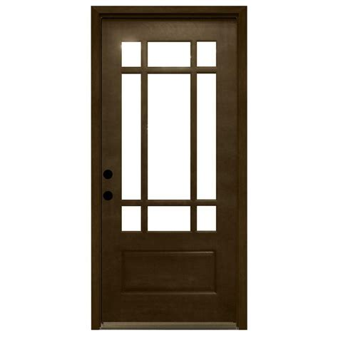 36 Inch Front Door Steves Sons 36 In X 80 In Craftsman 9 Lite Stained Mahogany Wood Prehung Front Door M3109 6