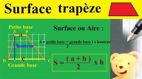 Comment Calculer Une Superficie 5335 by Calculer Surface Ou Aire D Un Trap 232 Ze Maths G 233 Om 233 Trie