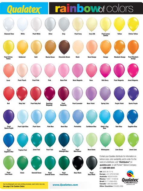 custom color rainbow of colors color charts inflated creations