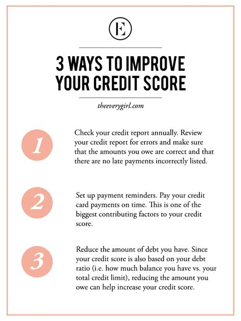 how to improve your credit score to buy a house knowing your credit score and how to improve it the everygirl