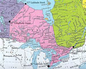 canada map latitude sskoss l ontario un projet culminative