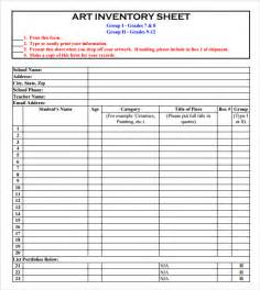 Inventory Sheets Template by Inventory Sheet Template 8 Free Documents In Pdf