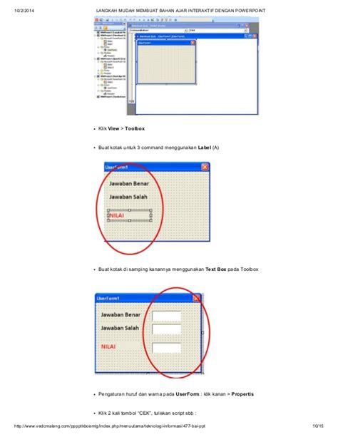 membuat soal power point dengan visual basic cara membuat powerpoint pembelajaran disertai macros