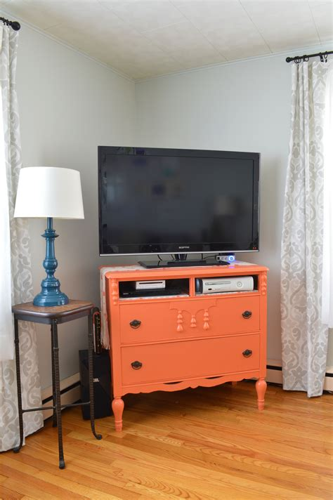 colorful tv stands furniture makeover from dresser to tv stand plaster