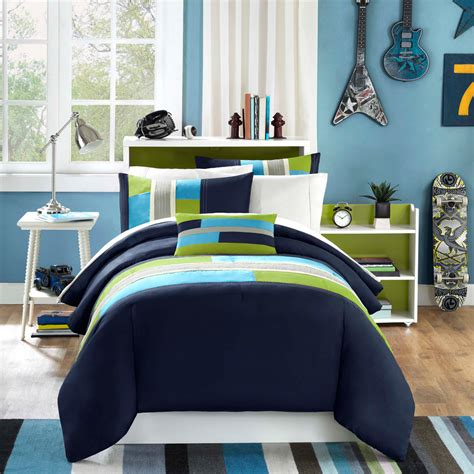 Navy Xl Comforter by Navy Blue Green Modern Geometric Boy Bedding
