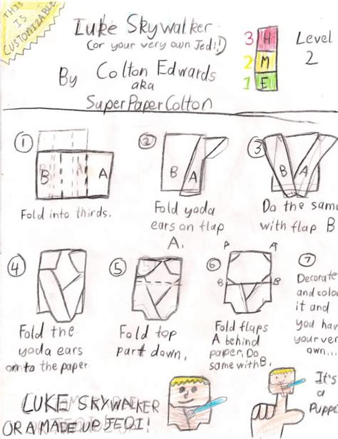 How To Fold A Origami Yoda - luke skywalker search results origami yoda page 2