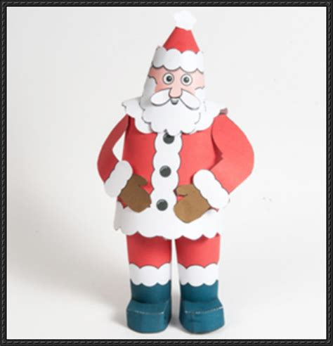 santa claus paper craft papercraftsquare new paper craft santa