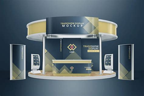 booth design mockup various tradeshow exhibition booth mockups on vectogravic com
